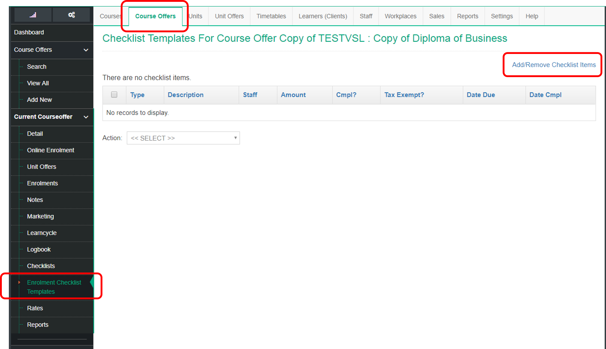 How To Set Up Enrolment Checklist Templates Wisenet Resources