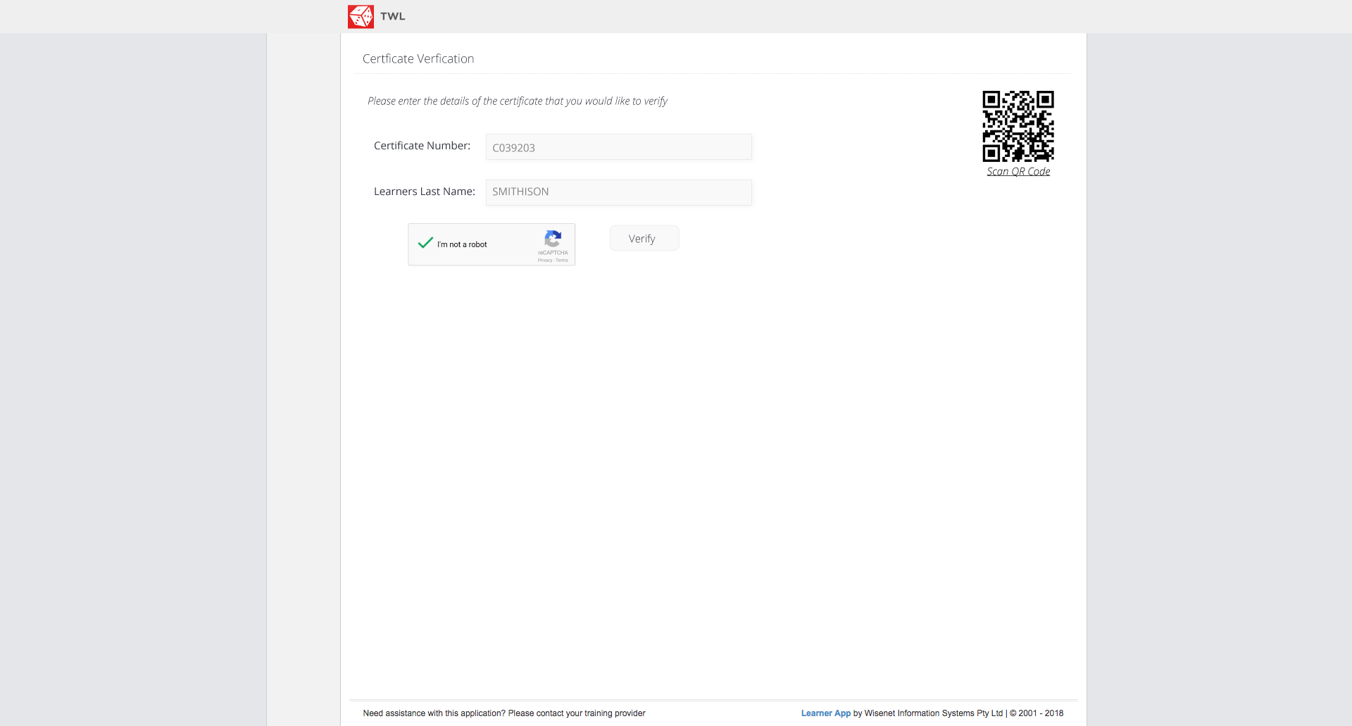 How To Use QR Code for Certificate Validation - Wisenet Resources