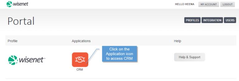 Portal login to crm